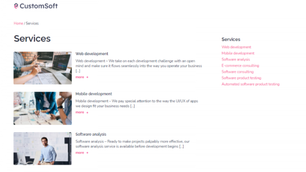 Services CustomSoft